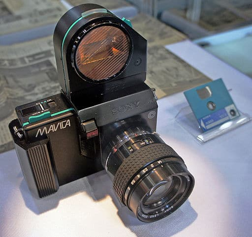 Sony Mavica - Photo par Morio - Wikipedia